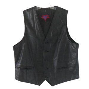 Verducci Black Leather Vest